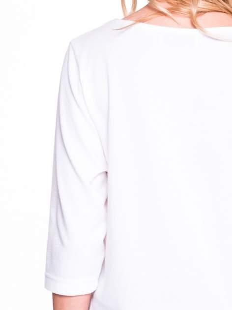 Ecru klasyczny sweterek z luźnym rękawkiem 3/4                                  zdj.                                  5