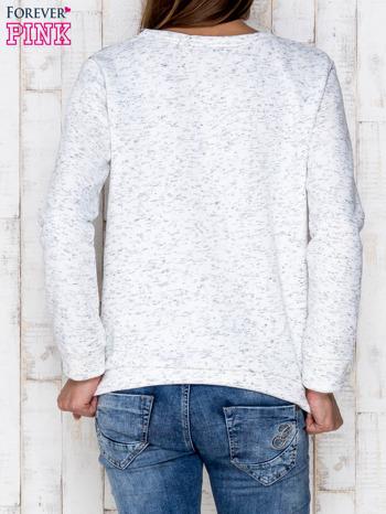 Ecru melanżowa bluza z nadrukiem sów                              zdj.                              2