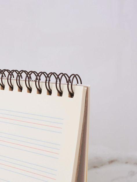 Ecru notatnik z nadrukami                              zdj.                              5