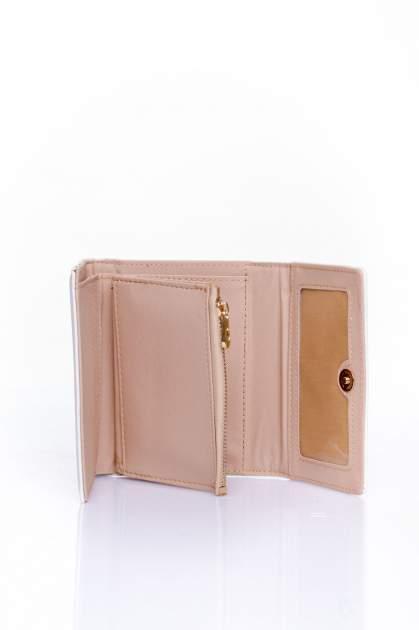 Ecru portfel z kokardką                                  zdj.                                  5