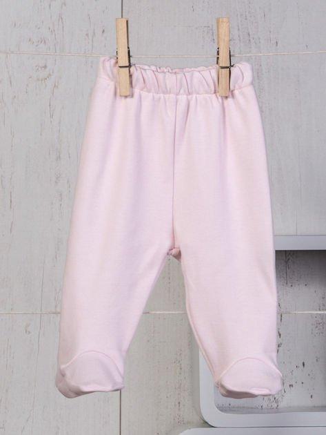 Ecru-różowy 5-elementowy 100% bawełniany zestaw niemowlęcy dla dziewczynki w kwiatuszki                                  zdj.                                  8