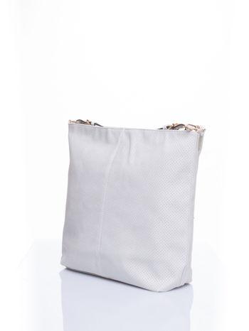 Ecru siateczkowa torba hobo                                  zdj.                                  4