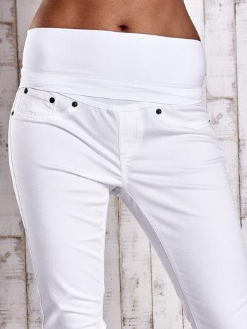 Ecru spodnie ciążowe slim                                  zdj.                                  4