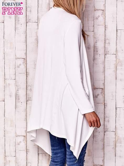 Ecru sweter z kaskadowym dekoltem                                  zdj.                                  4