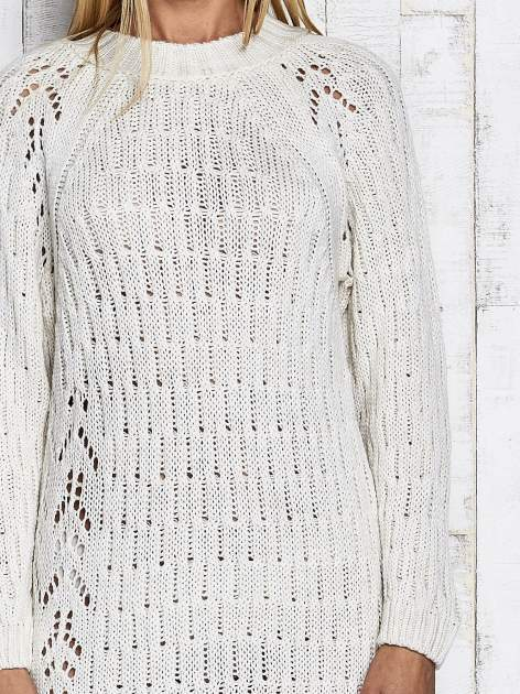 Ecru swetrowa sukienka midi                                  zdj.                                  7