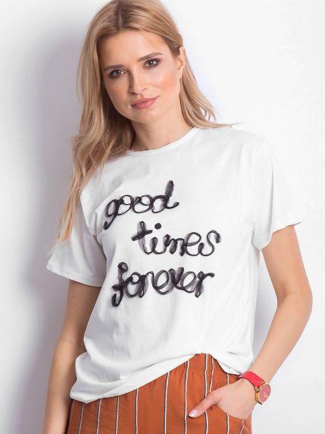 Ecru t-shirt Good Times Forever                              zdj.                              1