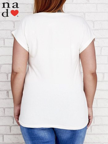 Ecru t-shirt basic PLUS SIZE