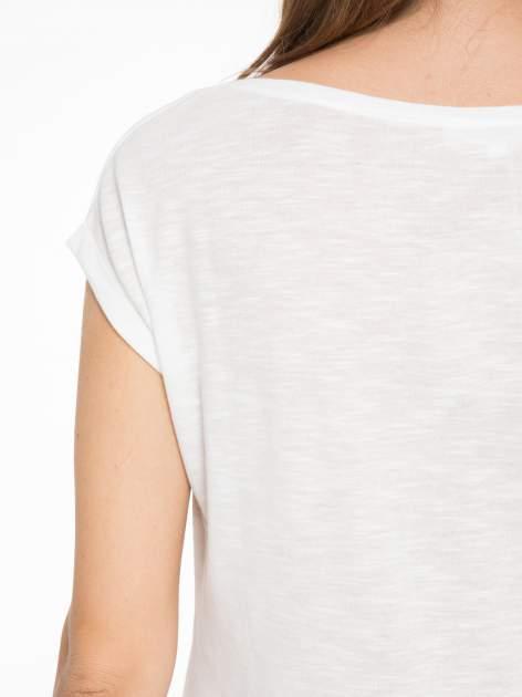 Ecru t-shirt z fotografią balonów                                  zdj.                                  8