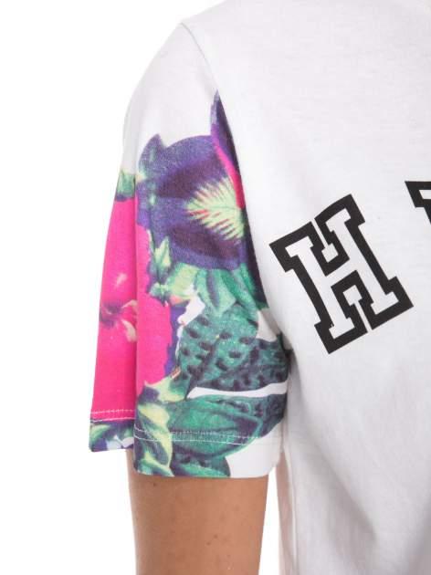Ecru t-shirt z nadrukiem HEAVEN 54 w stylu eclectic                                  zdj.                                  9