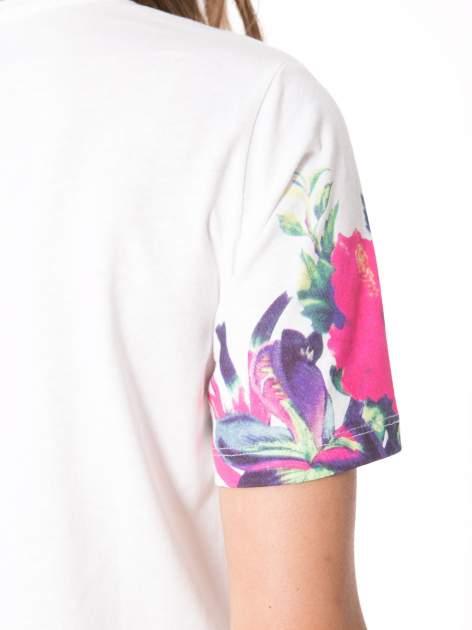 Ecru t-shirt z nadrukiem HEAVEN 54 w stylu eclectic                                  zdj.                                  10