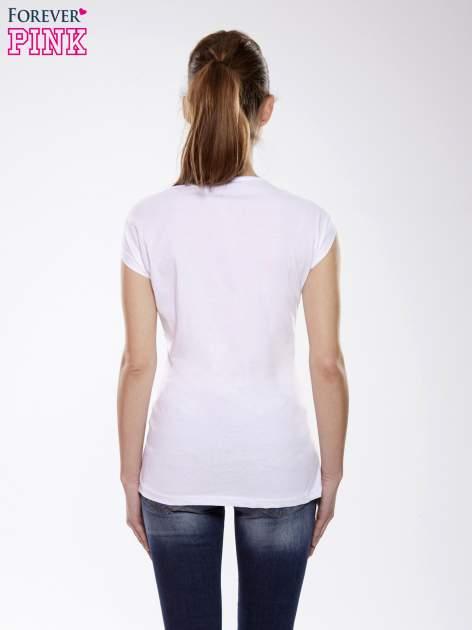 Ecru t-shirt z nadrukiem wilka                                  zdj.                                  4
