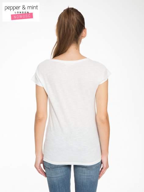 Ecru t-shirt z napisem LET GO                                  zdj.                                  4