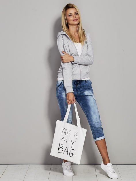 Ecru torba materiałowa THIS IS MY BAG                                  zdj.                                  4