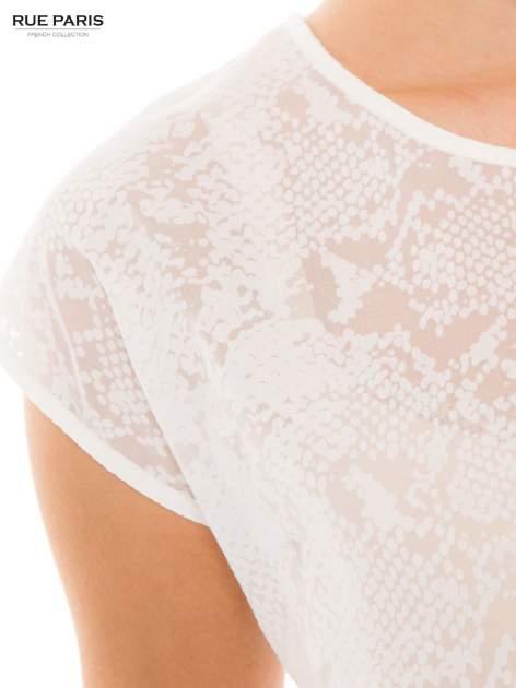 Ecru transparentna koszula                                  zdj.                                  3