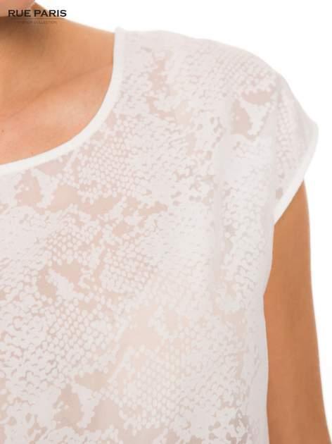 Ecru transparentna koszula                                  zdj.                                  4