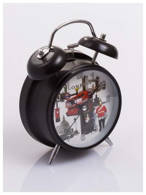 Elegancki i skuteczny :) BUDZIK zegarek stojący z lampką z motywem LONDON                                  zdj.                                  2