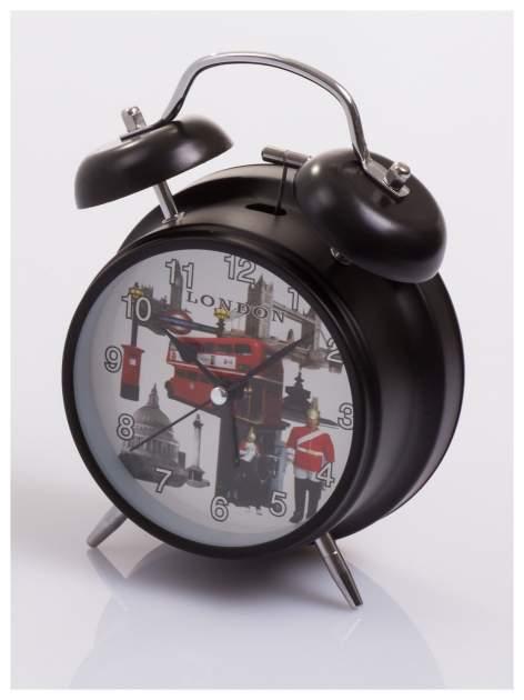 Elegancki i skuteczny :) BUDZIK zegarek stojący z lampką z motywem LONDON                                  zdj.                                  3