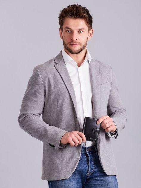 Elegancki pionowy portfel męski czarny                              zdj.                              12