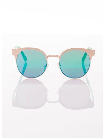 FASHION okulary przeciwsłoneczne KOCIE OCZY stylizowane na FENDI zielono-złote                                  zdj.                                  3