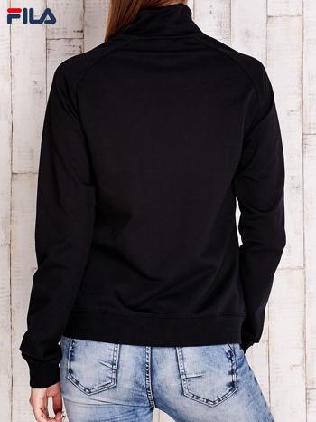 FILA Czarna bluza z geometrycznymi przeszyciami