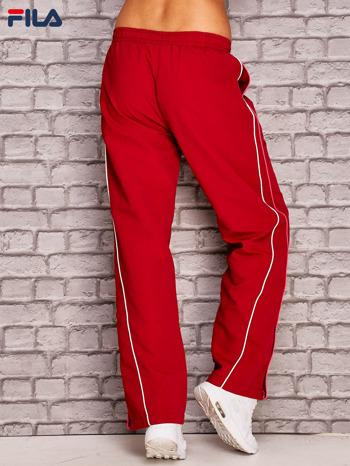 FILA Czerwone szerokie spodnie dresowe