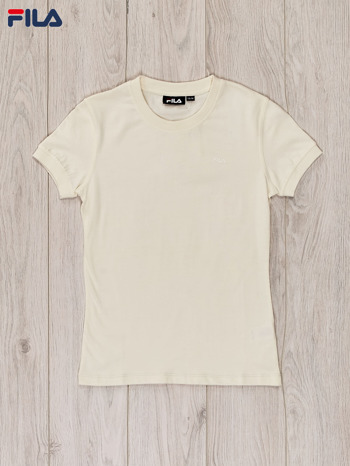 FILA Ecru t-shirt dla dziewczynki basic                                  zdj.                                  1