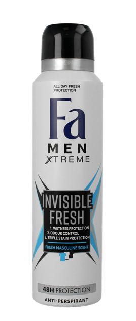 "Fa Men Xtreme Dezodorant spray Invisible Fresh  150 ml"""