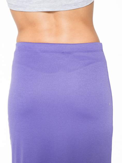 Fioletowa maxi spódnica z rozcięciem z boku                                  zdj.                                  8