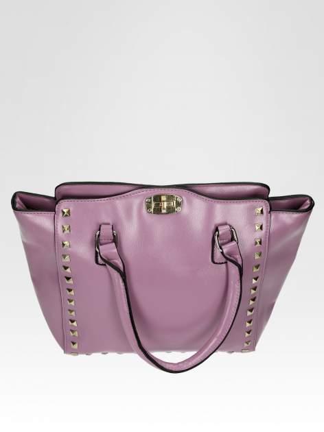 Fioletowa torebka na ramię z dżetami                                  zdj.                                  8
