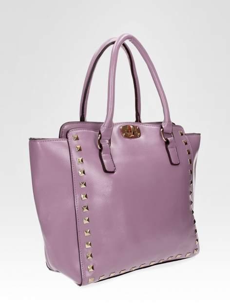 Fioletowa torebka na ramię z dżetami                                  zdj.                                  6