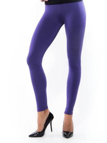 Fioletowe gładkie legginsy