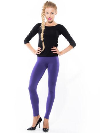 Fioletowe gładkie legginsy                                   zdj.                                  3