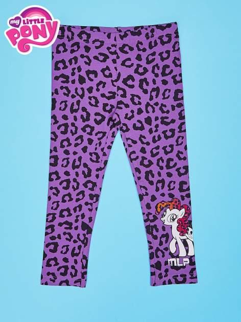 Fioletowe legginsy dla dziewczynki nadruk MY LITTLE PONY                                  zdj.                                  1