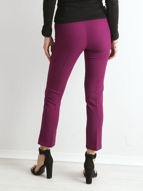 Fioletowe spodnie z wiązaniem                               zdj.                              2