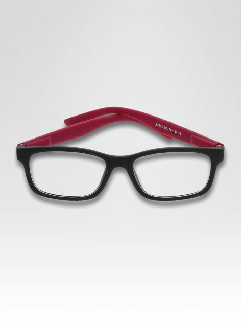 Fioletowo-czarne okulary zerówki kujonki typu WAYFARER NERDY matowe