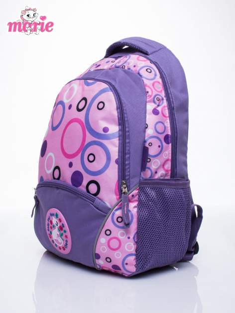 Fioletowy plecak szkolny DISNEY kotka Marie                                  zdj.                                  2