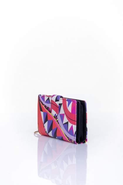 Fioletowy portfel w graficzne wzory                                  zdj.                                  3