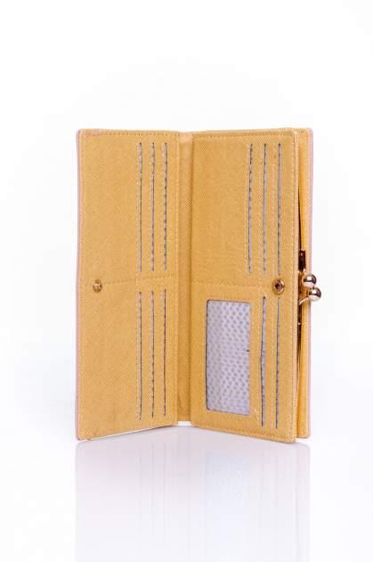 Fioletowy portfel z biglem efekt saffiano                                   zdj.                                  3