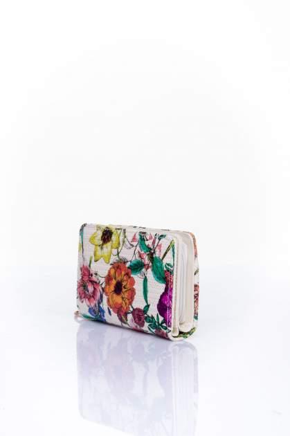 Fioletowy portfel z kwiatowym nadrukiem                                  zdj.                                  3