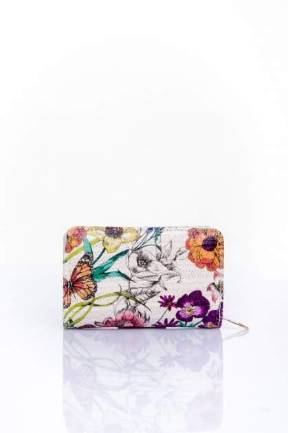 Fioletowy portfel z kwiatowym nadrukiem                                  zdj.                                  2