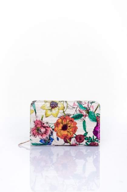 Fioletowy portfel z kwiatowym nadrukiem                                  zdj.                                  1