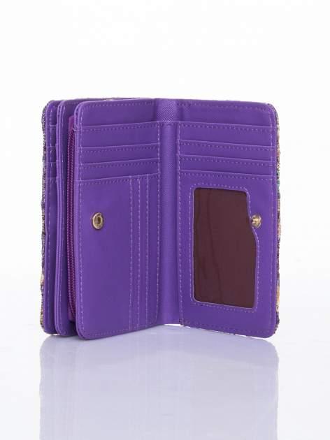 Fioletowy portfel z kwiatowymi motywami                                  zdj.                                  5