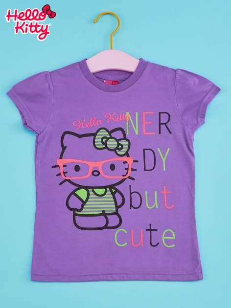 Fioletowy t-shirt dla dziewczynki HELLO KITTY