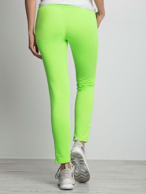 Fluo zielone spodnie dresowe Defined                              zdj.                              2