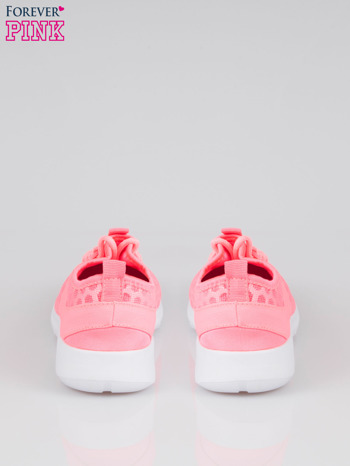 Fluoróżowe buty sportowe textile Drive Me Crazy z siateczki na podeszwie flex                                  zdj.                                  3