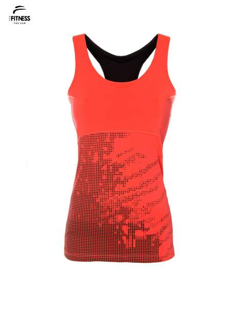 Fluoróżowy termoaktywny top sportowy z nadrukiem ♦ Performance RUN                                  zdj.                                  2