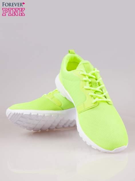 Fluozielone buty sportowe eco leather On Fire                                  zdj.                                  4