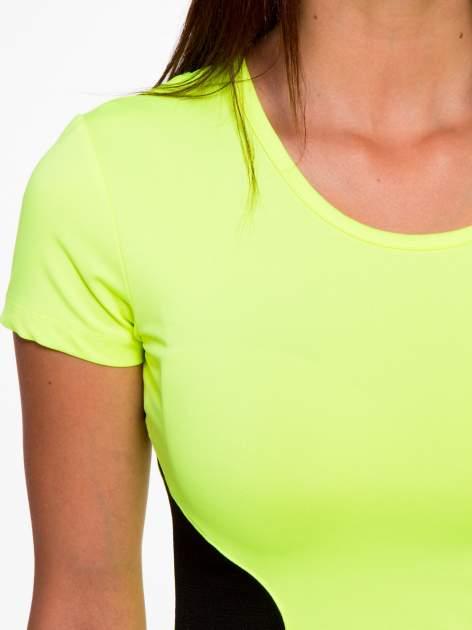 Fluozielony termoaktywny t-shirt sportowy z siateczkowymi modułami ♦ Performance RUN                                  zdj.                                  6
