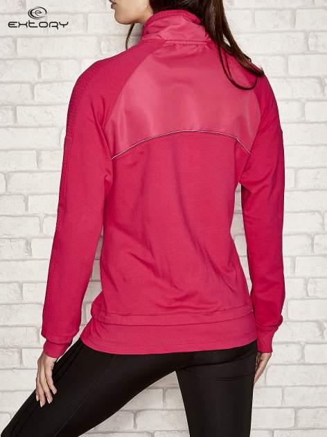 Fuksjowa bluza sportowa fitness z wiązaniem                                  zdj.                                  3