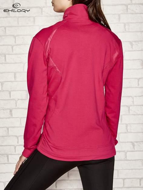 Fuksjowa bluza sportowa fitness ze wstawkami                                  zdj.                                  3